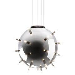 Contemporary Design Lamp Chandelier Sphere Steel Dimmerable Italian