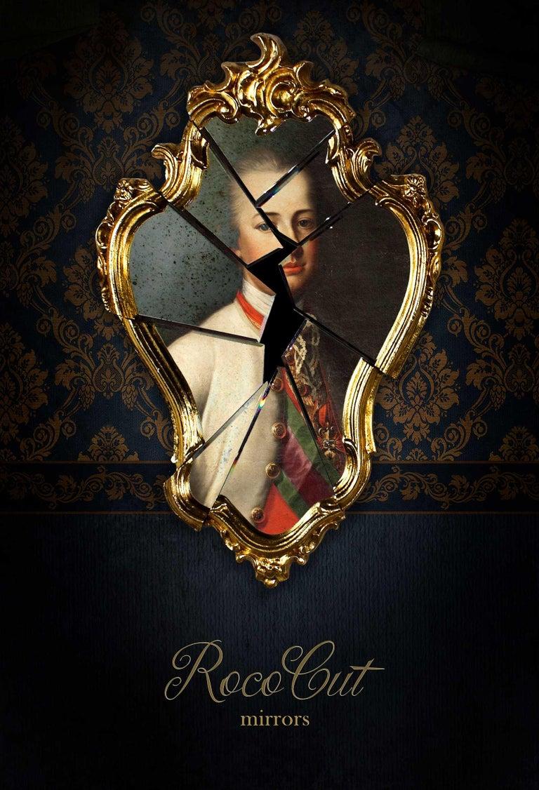 Wall Mirror Classic Frame Gold Rococo Italian Contemporary Design 1