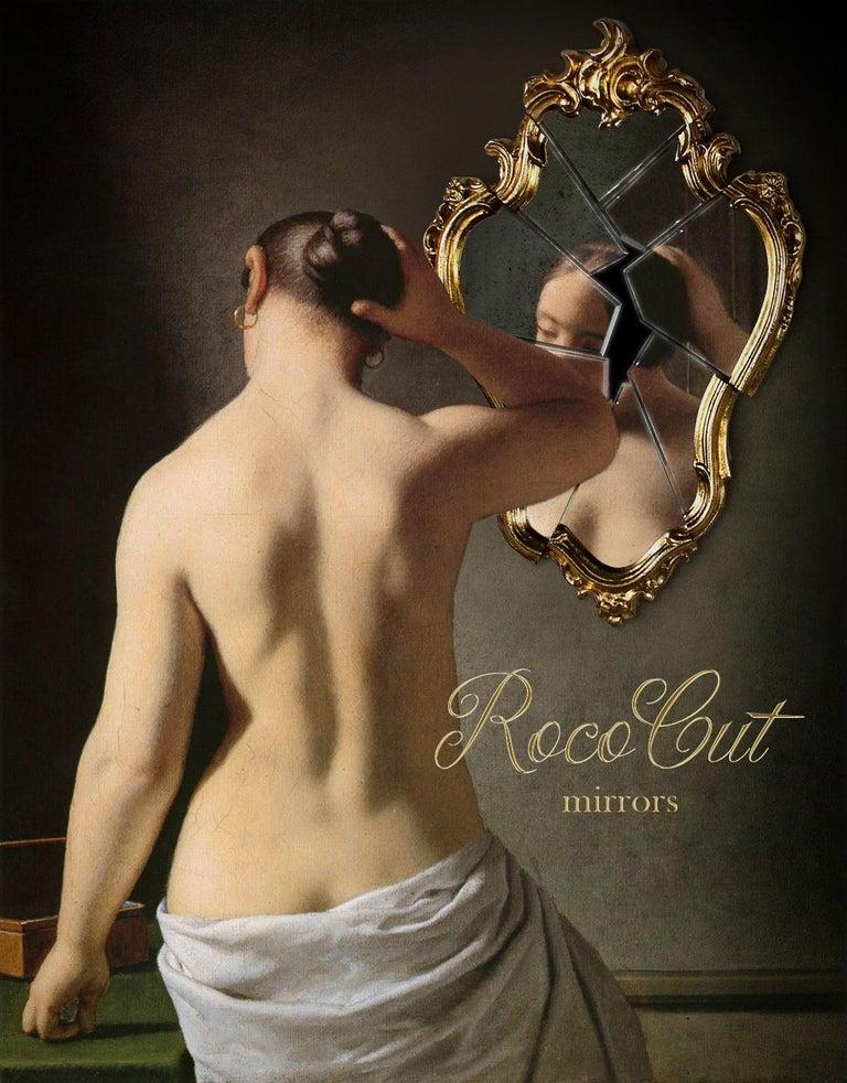 Wall Mirror Classic Frame Gold Rococo Italian Contemporary Design 2