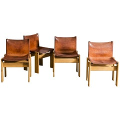 "Set of Four Afra & Tobia Scarpa ""Monk"" Chair"