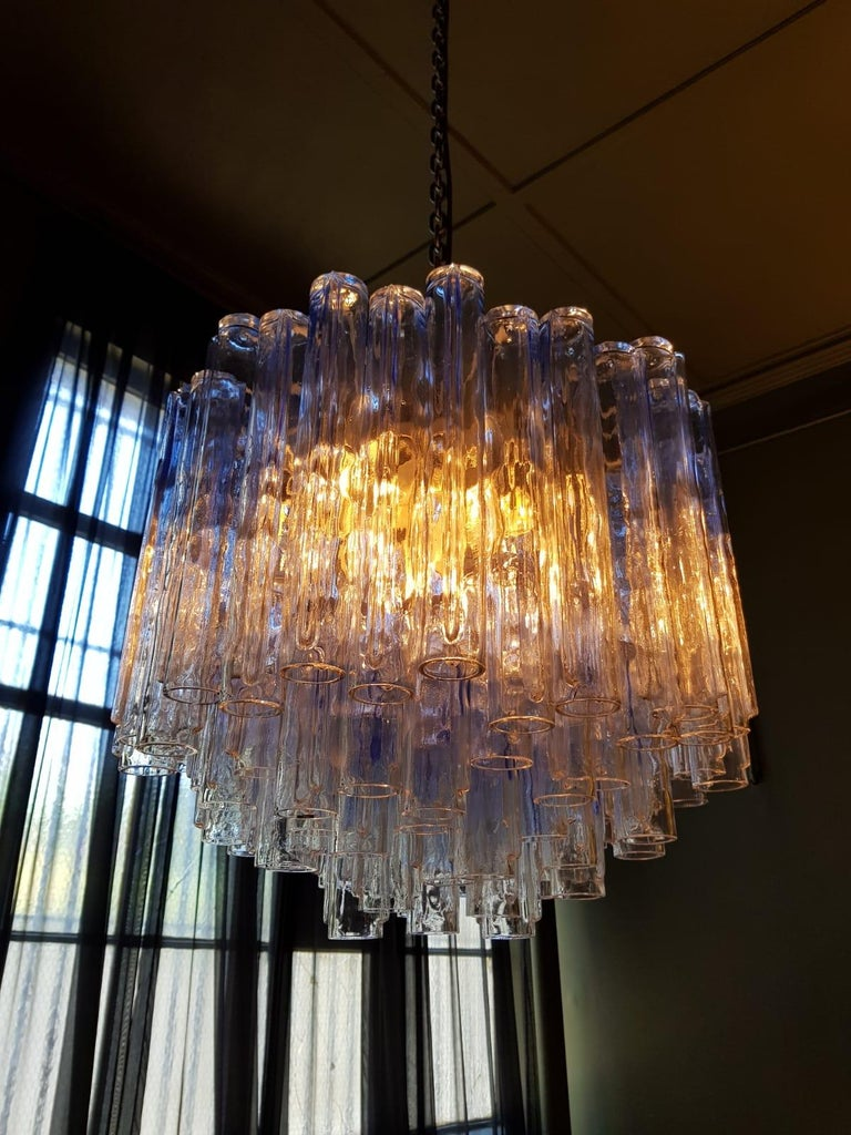 Calza Hanging Light by Ludovico Diaz de Santilla for Venini, 1964 In Excellent Condition For Sale In Collingwood, VIC