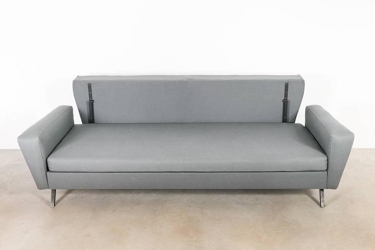 Mid Century Modern Italian Sofa Bed 1950s For