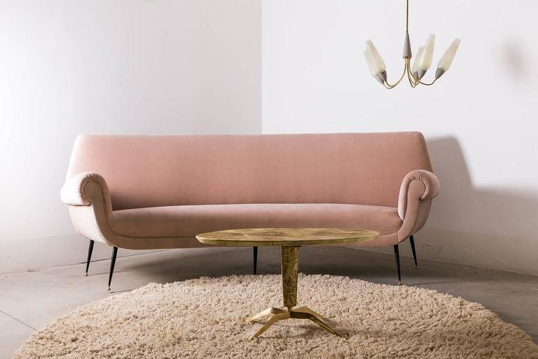 Curved Sofa by Gigi Radici Circa 1950 For Sale 2