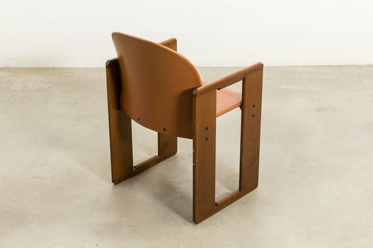 Six Leather Dialogo Dining Chairs By Afra And Tobia Scarpa For B B Italia For Sale At 1stdibs