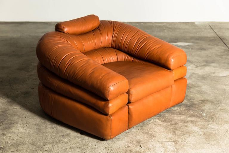 Mid-Century Modern 1967 Lounge Chair by De Pas, D'Urbino, Lomazzi for Zanotta For Sale