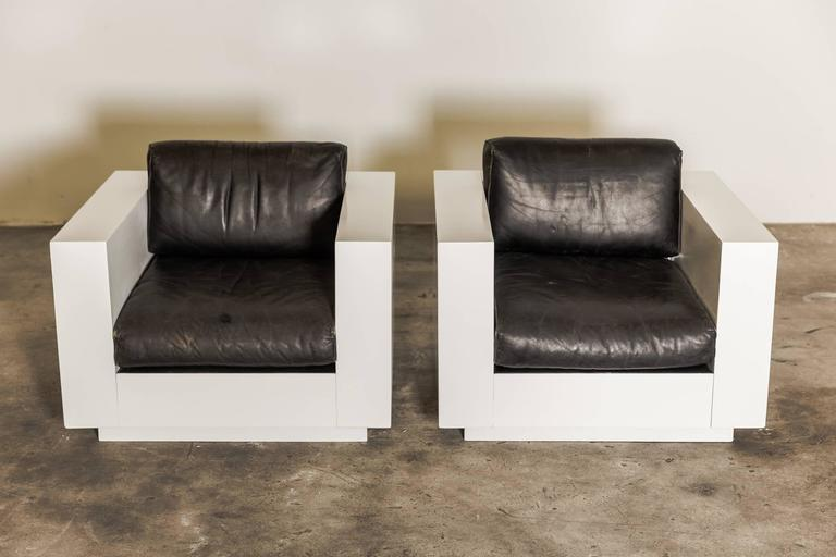 Pair Of Massimo And Lella Vignelli Cube Chair Quot Saratoga