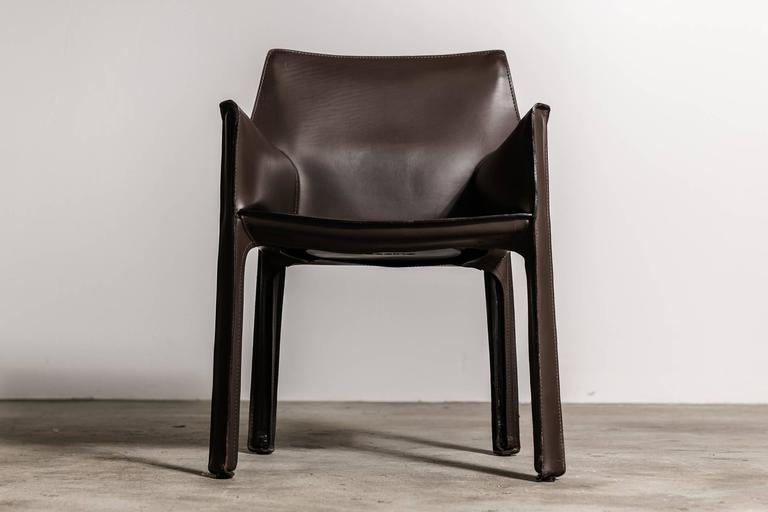 Set Of Six Mario Bellini Cab Armchairs For Cassina For Sale At 1stdibs
