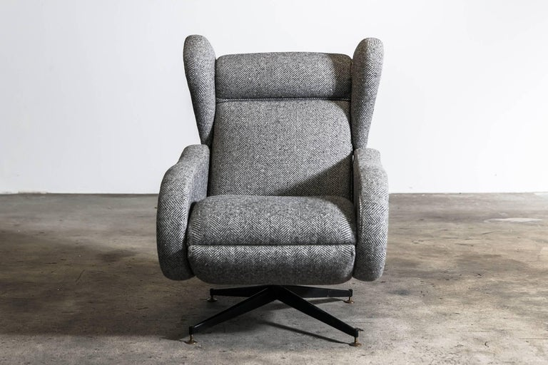 italian wingback recliner chair at 1stdibs