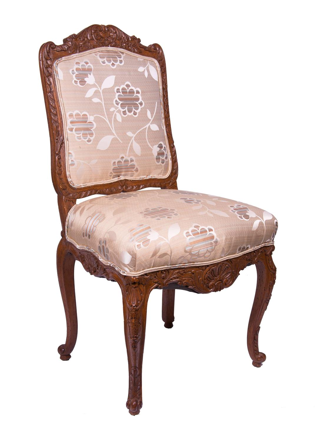 Set Of 19th Century Louis Xv Style Oak Side Or Dining Chairs For Sale At 1stdibs