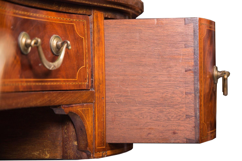 English Mahogany And Inlaid Kidney Shaped Writing Table At 1stdibs