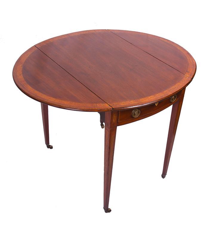English George Iii English Mahogany Inlaid Pembroke Table For Sale At 1stdibs