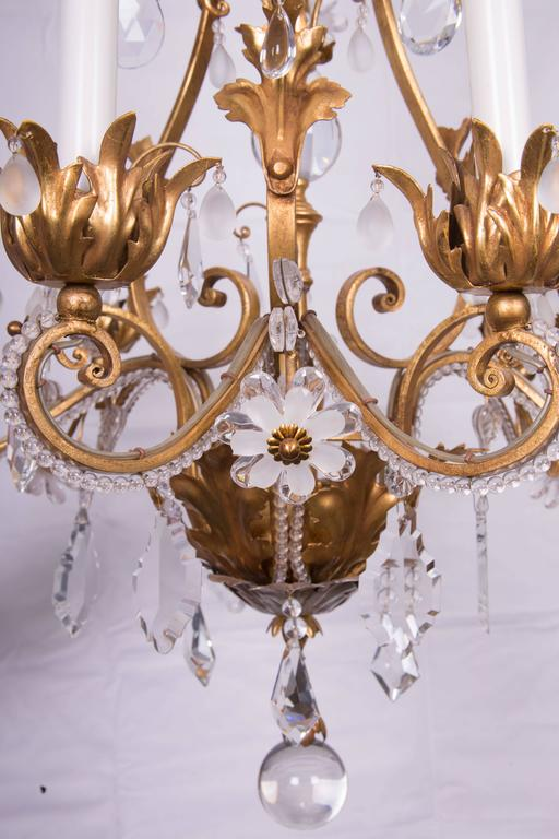Louis XVI French Baguès Chandelier For Sale
