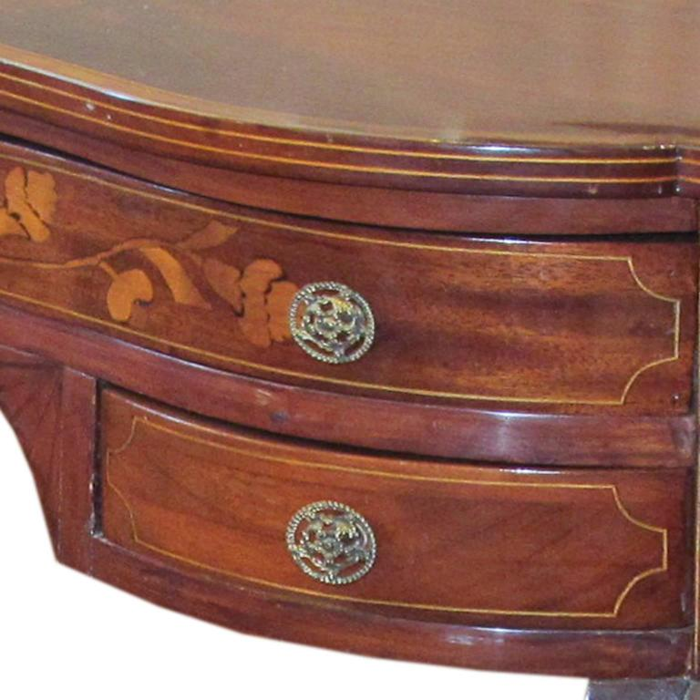 Dutch Serpentine Mahogany and Marquetry Inlaid Table 4