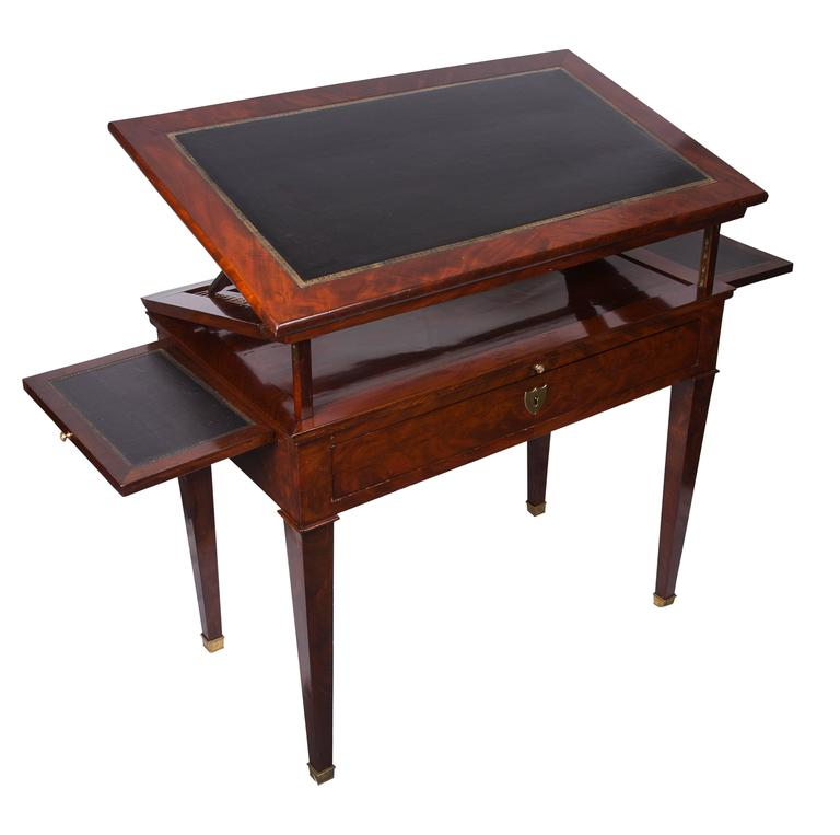 19th Century French Empire Mahogany Architect's Desk 2