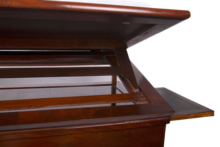 19th Century French Empire Mahogany Architect's Desk 4