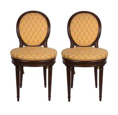 19th Century Walnut Caned Musician's Chairs