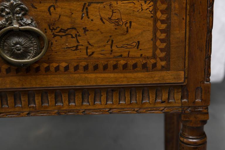 19th Century, Italian Walnut Louis XVI Style Side Cabinet 2