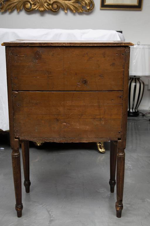 19th Century, Italian Walnut Louis XVI Style Side Cabinet 3