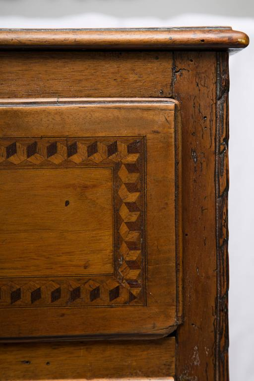 19th Century, Italian Walnut Louis XVI Style Side Cabinet 4