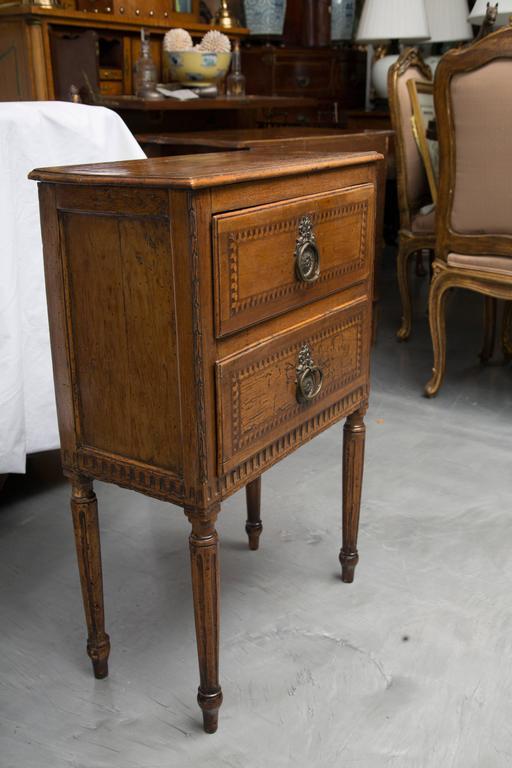 19th Century, Italian Walnut Louis XVI Style Side Cabinet 5