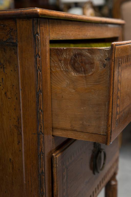 19th Century, Italian Walnut Louis XVI Style Side Cabinet 6