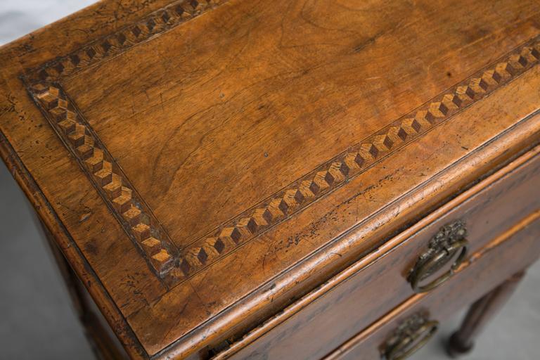 19th Century, Italian Walnut Louis XVI Style Side Cabinet 7