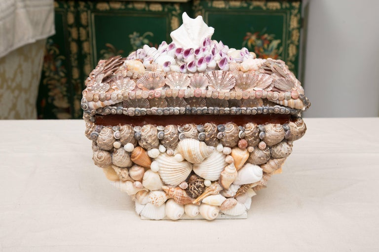 Other Shell Encrusted Lidded Box For Sale