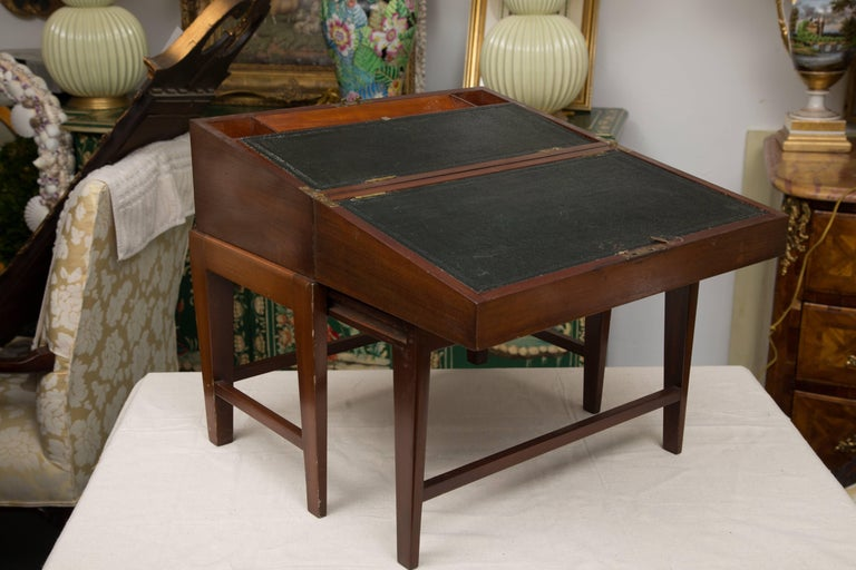 19th Century Mahogany Lap Desk on Later Stand For Sale 2