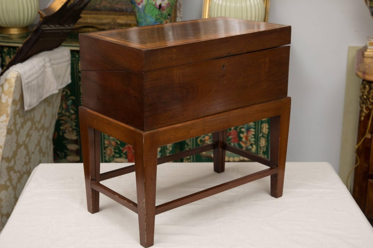 19th Century Mahogany Lap Desk on Later Stand For Sale 3