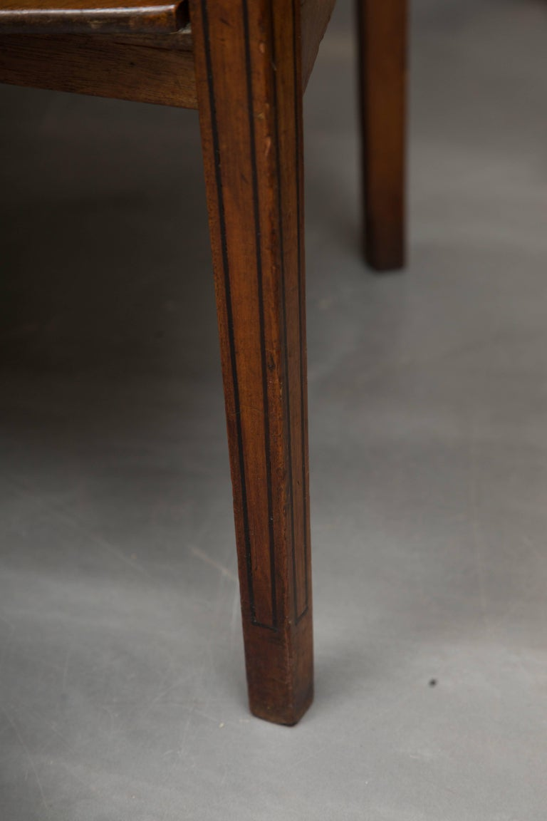 Hand-Carved George III Mahogany Concave Server For Sale