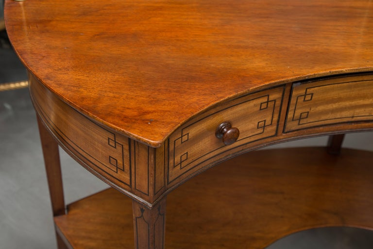George III Mahogany Concave Server For Sale 1