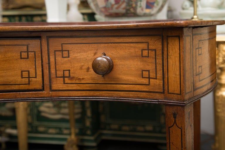 George III Mahogany Concave Server For Sale 2