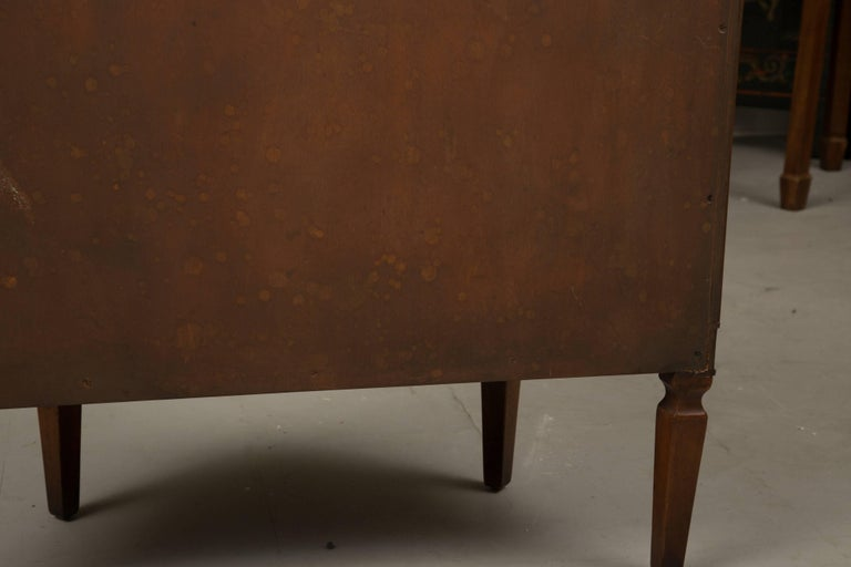20th Century Pair of Cherrywood Biedermeier Style Demilune Cabinets For Sale