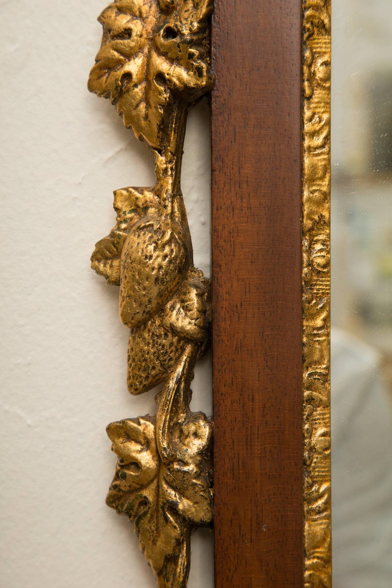 English Mahogany and Parcel-Gilt George II Style Mirrors For Sale