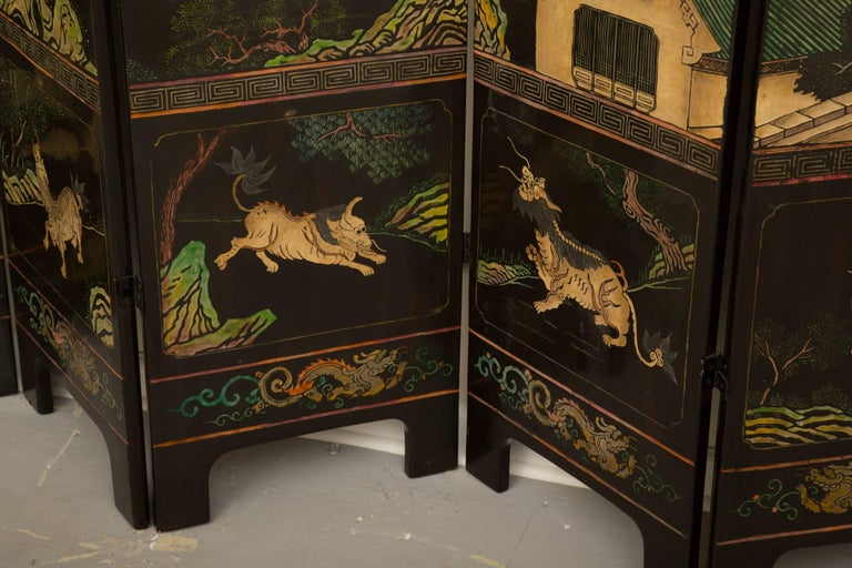 20th Century Magnificent Chinese 12-Panel Coromandel Screen For Sale