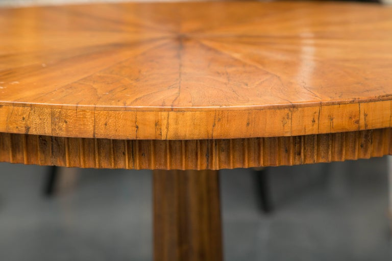 Woodwork 19th Century Biedermeier Cherrywood Circular Side Table For Sale