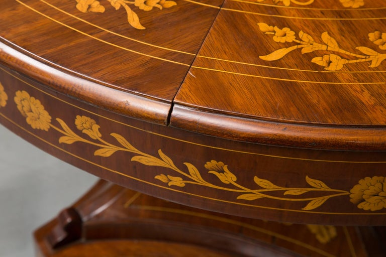 Italian Dutch Marquetry Centre Table For Sale