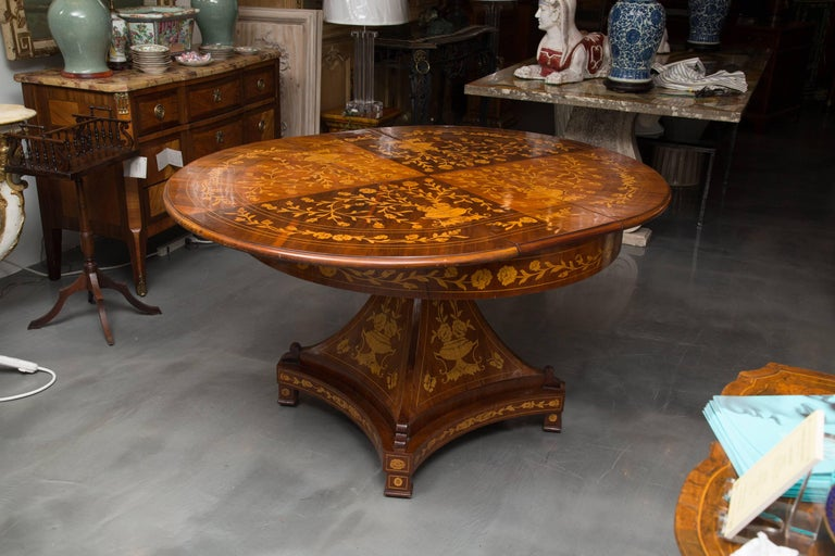 Dutch Marquetry Centre Table For Sale 2