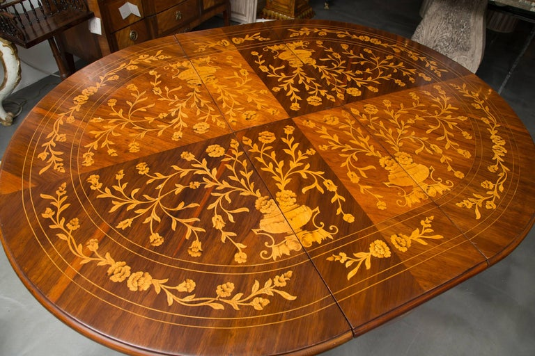 Dutch Marquetry Centre Table For Sale 3