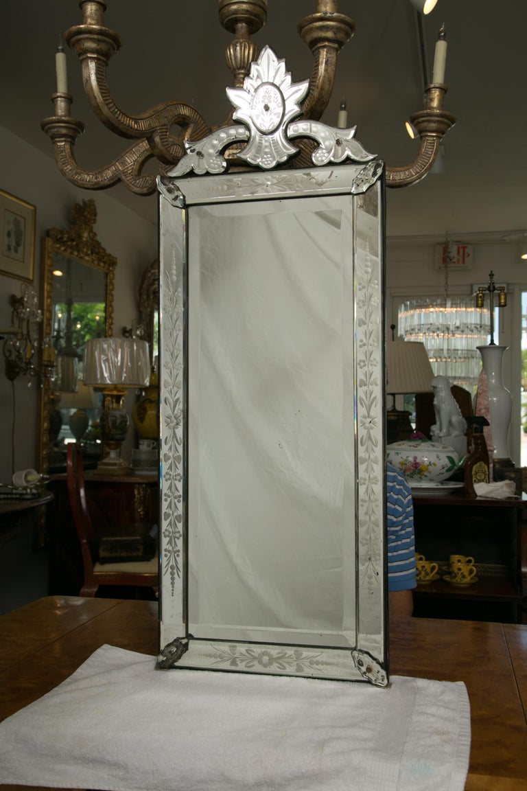 Early 20th Century Venetian Mirror For Sale 4