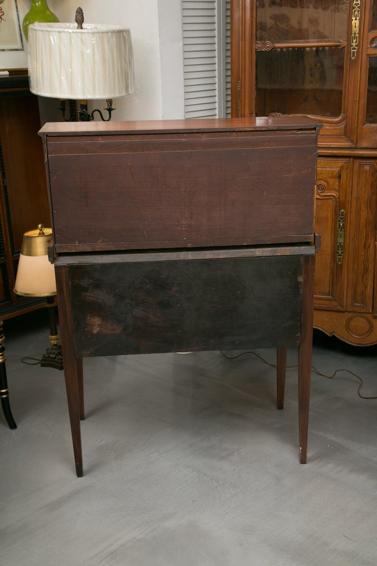 American Federal Writing Desk with Tambour Doors In Fair Condition For Sale In WEST PALM BEACH, FL