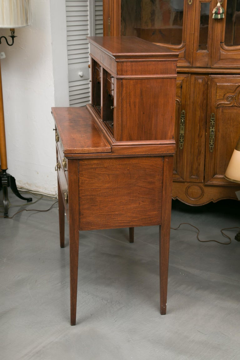 19th Century American Federal Writing Desk with Tambour Doors For Sale