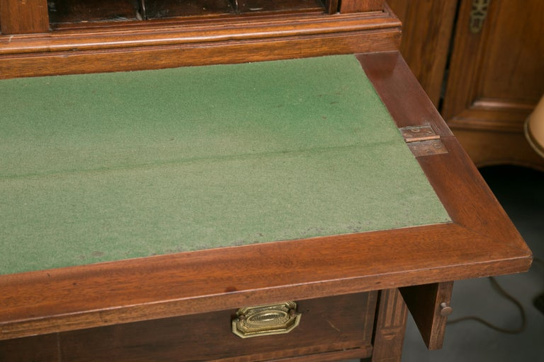 American Federal Writing Desk with Tambour Doors For Sale 3