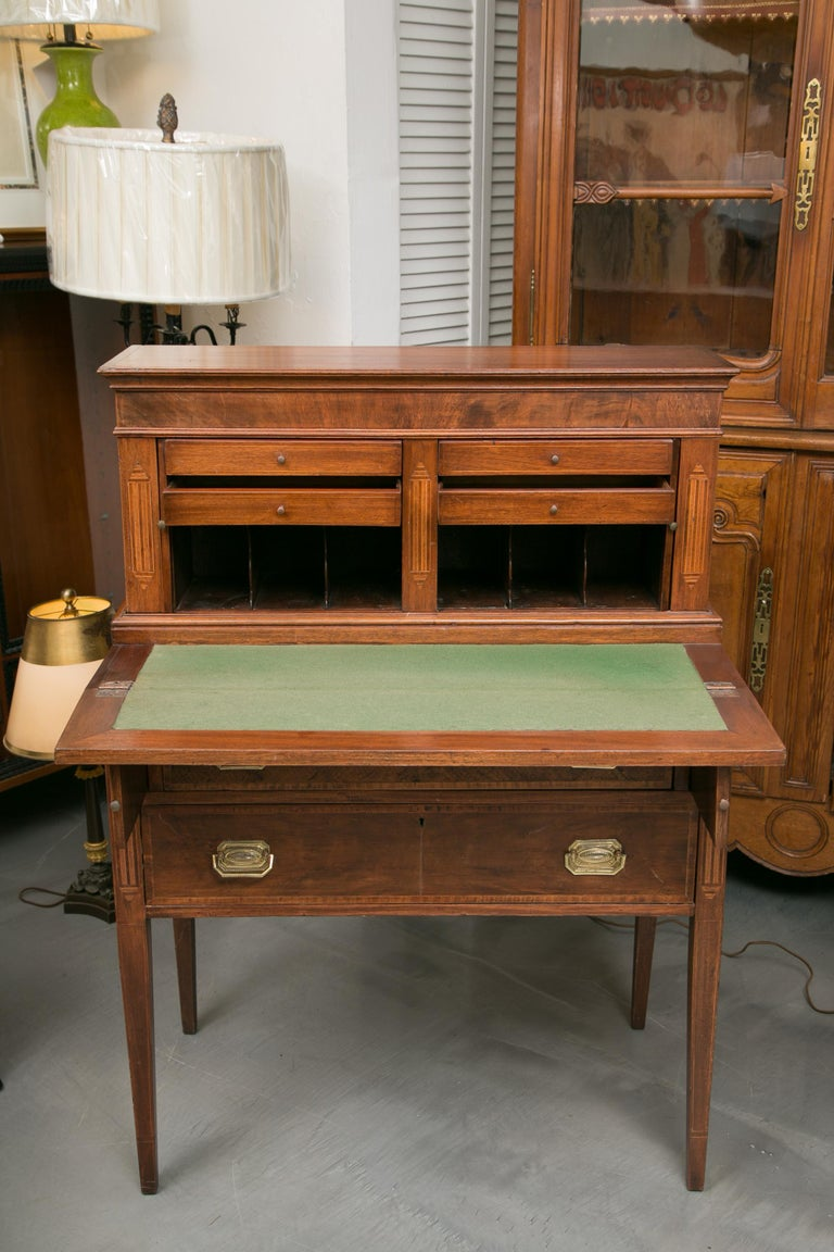 American Federal Writing Desk with Tambour Doors For Sale 5