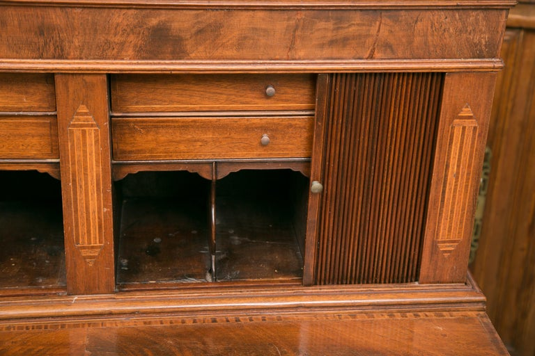 American Federal Writing Desk with Tambour Doors For Sale 6
