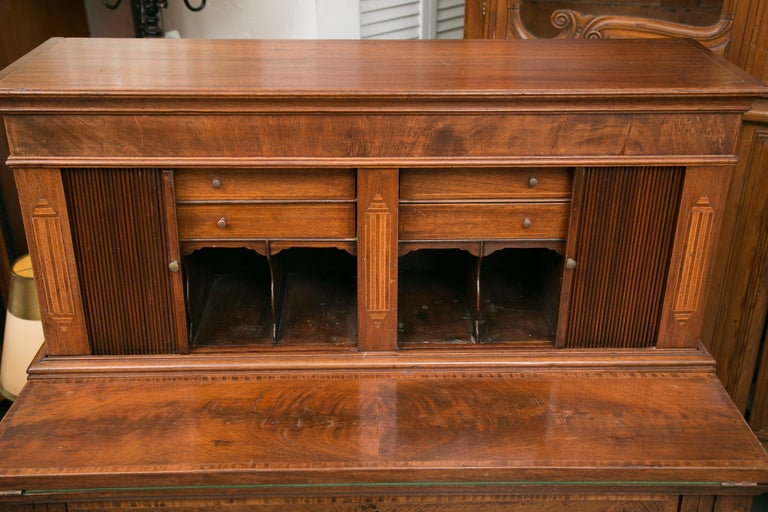 American Federal Writing Desk with Tambour Doors For Sale 7