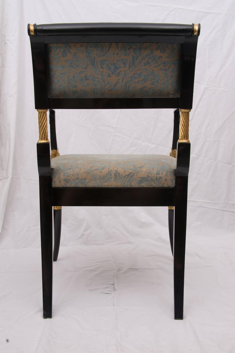 Ebonized And Parcel Gilt Regency Style Armchair For Sale At 1stdibs