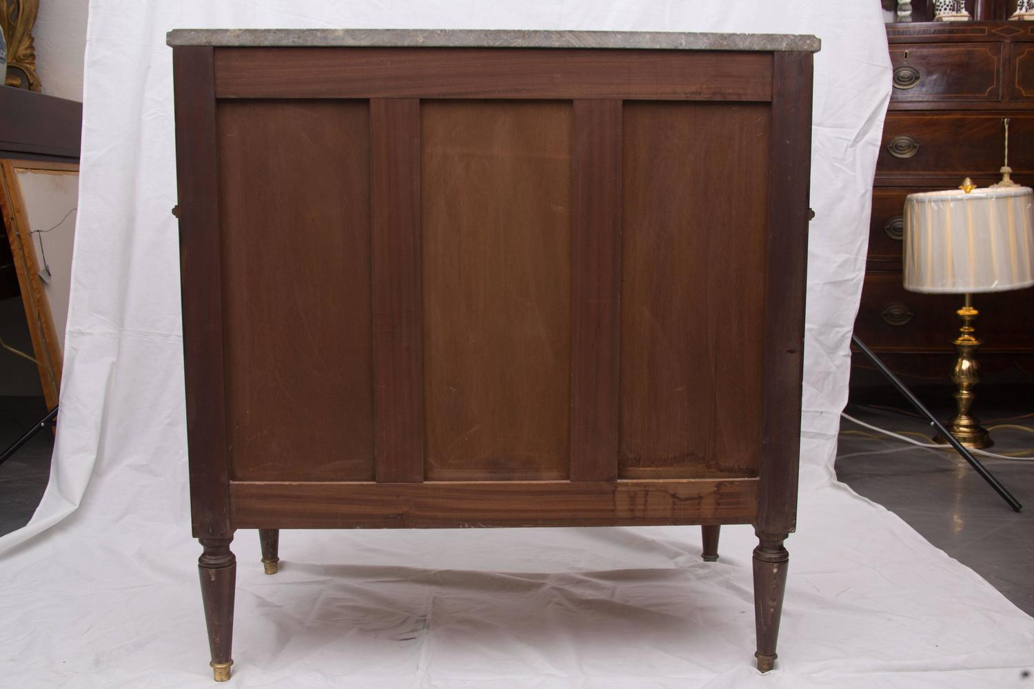 Pair Of 20th Century French Directoire Style Mahogany Chests At 1stdibs