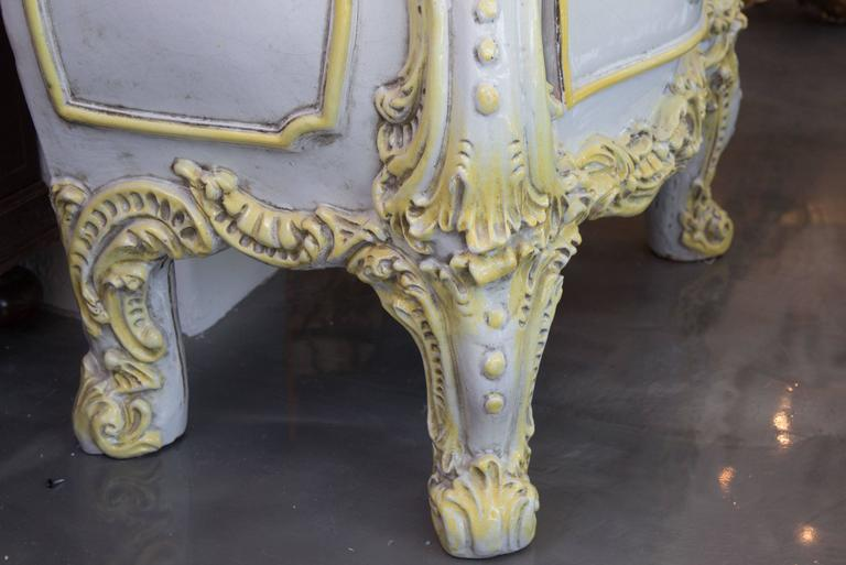 19th Century French Glazed Ceramic Stove In Good Condition For Sale In WEST PALM BEACH, FL