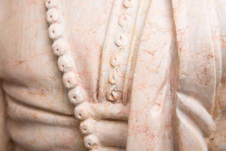 Marble Bust of Moor In Good Condition For Sale In WEST PALM BEACH, FL